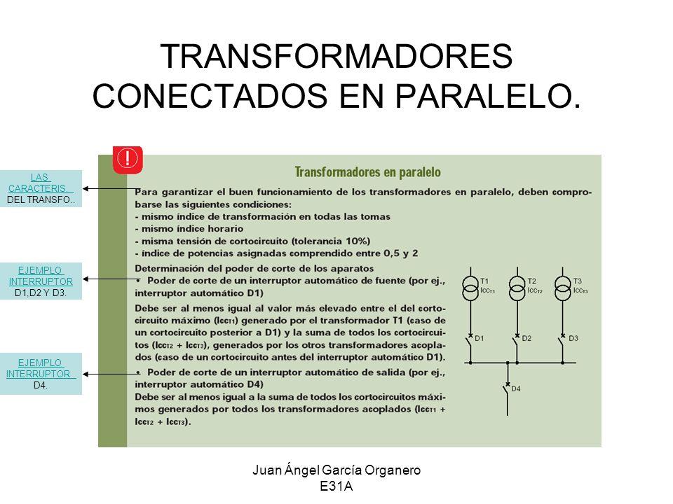 TRANSFORMADORES CONECTADOS EN PARALELO.
