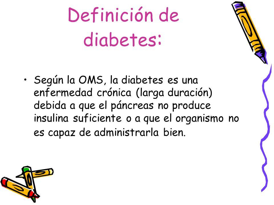 Definición de diabetes: