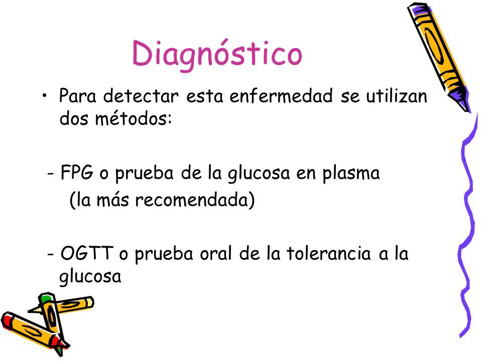 Diagnóstico Para detectar esta enfermedad se utilizan dos métodos:
