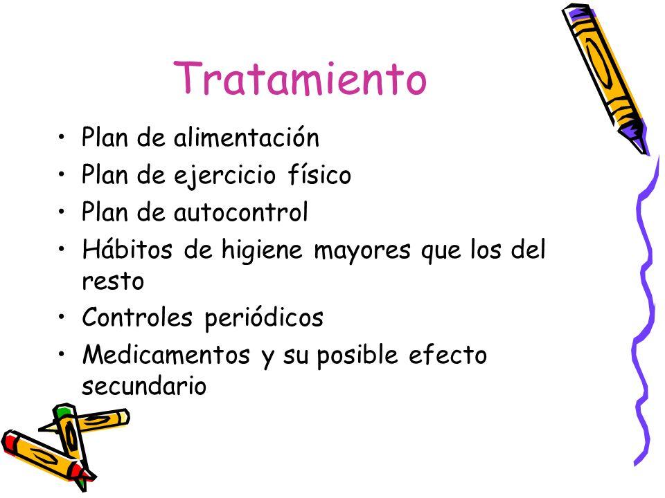 Tratamiento Plan de alimentación Plan de ejercicio físico