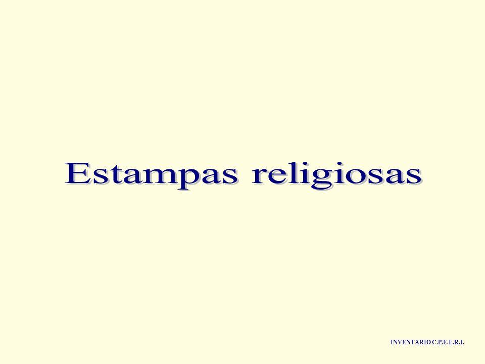 Estampas religiosas INVENTARIO C.P.E.E.R.I.