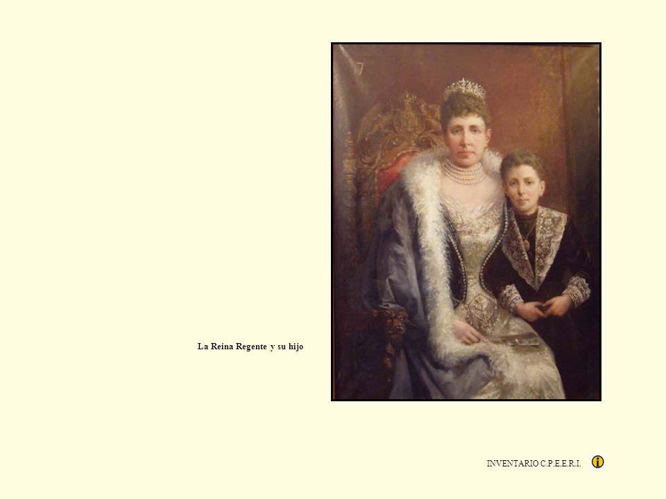La Reina Regente y su hijo
