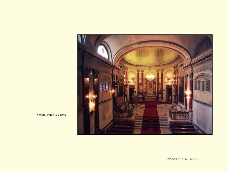Ábside, retablo y nave INVENTARIO C.P.E.E.R.I.