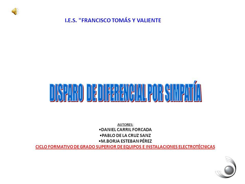 DISPARO DE DIFERENCIAL POR SIMPATÍA