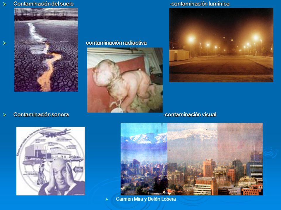 Contaminación del suelo -contaminación lumínica