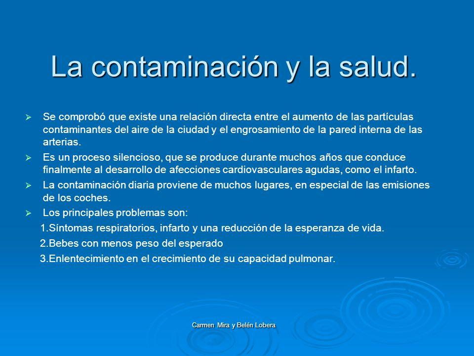 La contaminación y la salud.