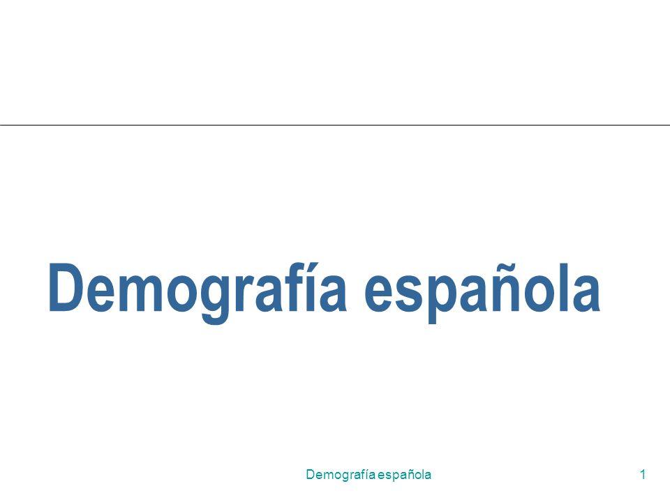 Demografía española Demografía española