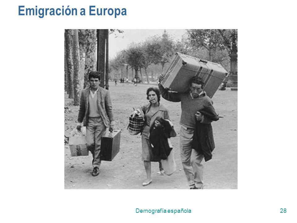 Emigración a Europa Demografía española