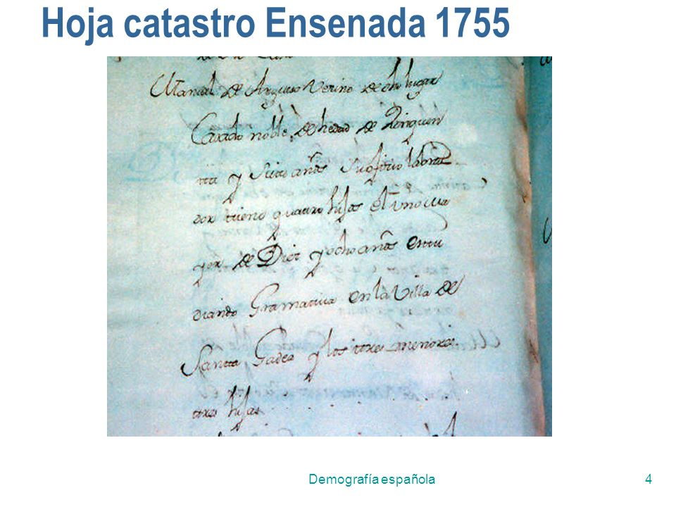Hoja catastro Ensenada 1755
