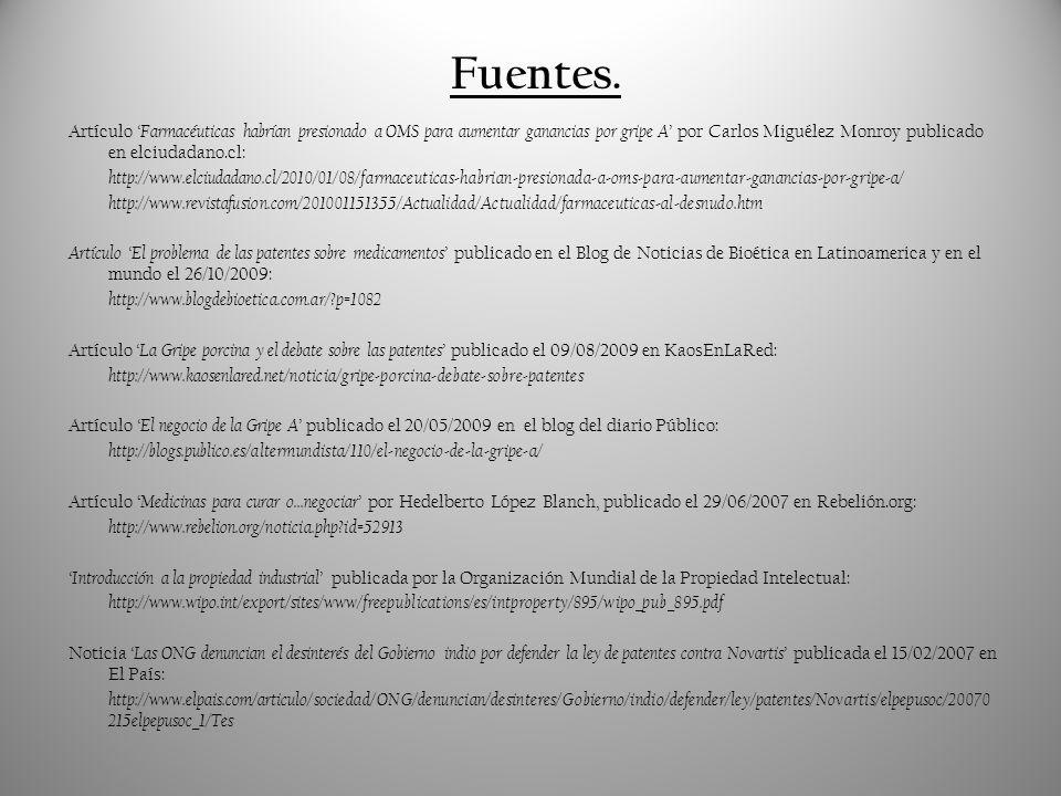 Fuentes.