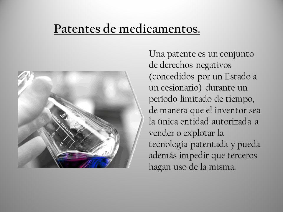 Patentes de medicamentos.