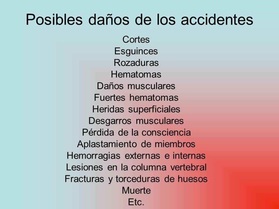 Posibles daños de los accidentes