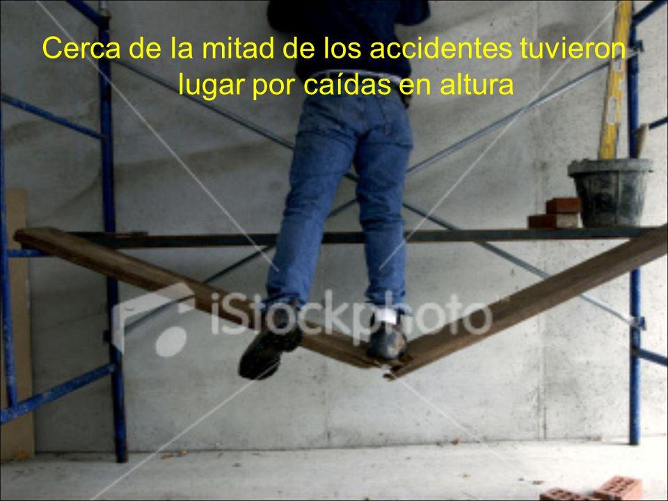 Cerca de la mitad de los accidentes tuvieron lugar por caídas en altura