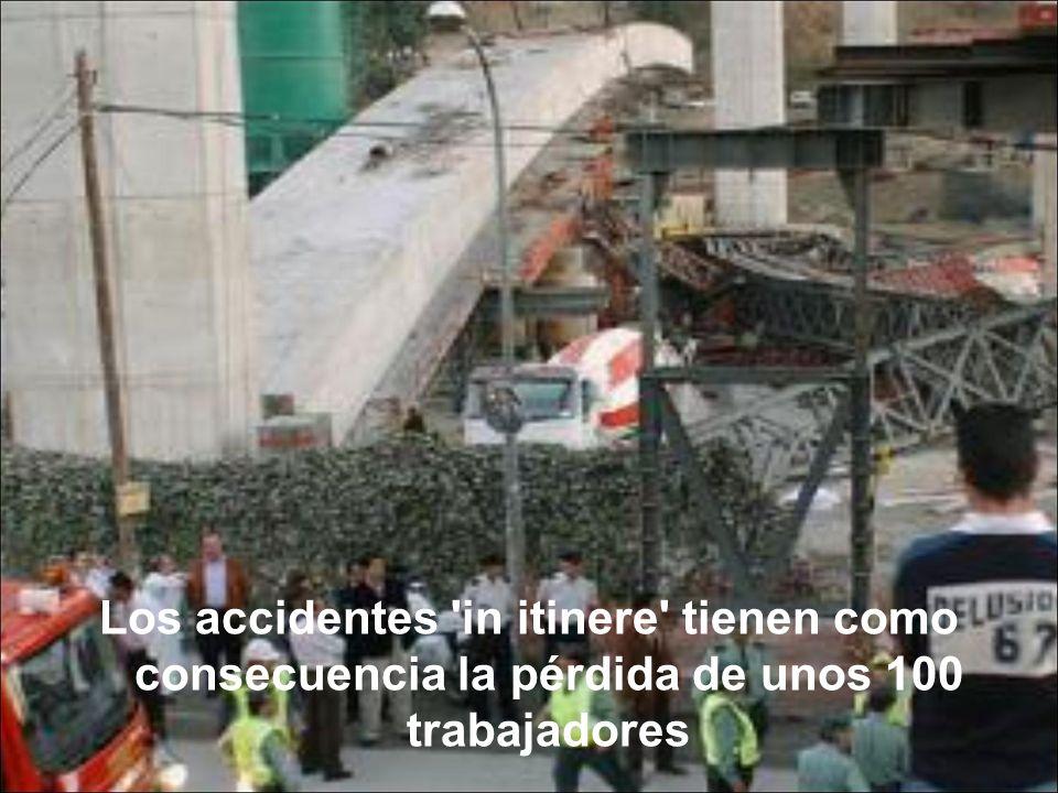Los accidentes in itinere tienen como consecuencia la pérdida de unos 100 trabajadores