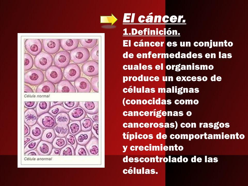 El cáncer.1.Definición.