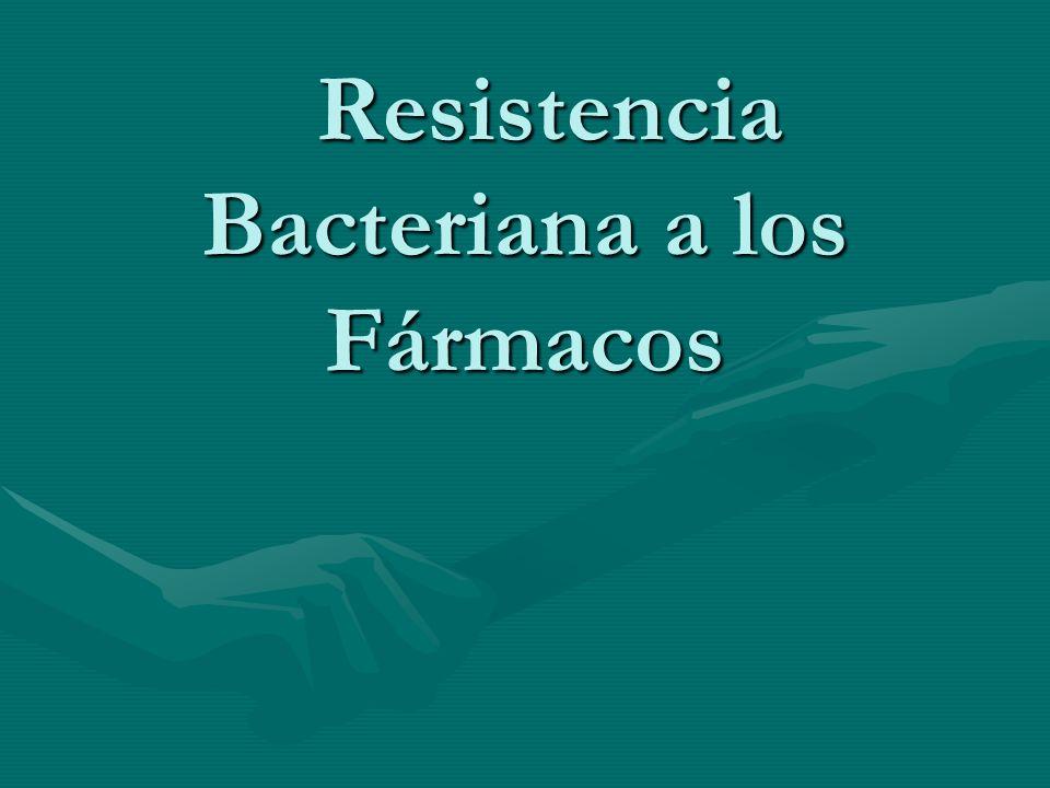 Resistencia Bacteriana a los Fármacos