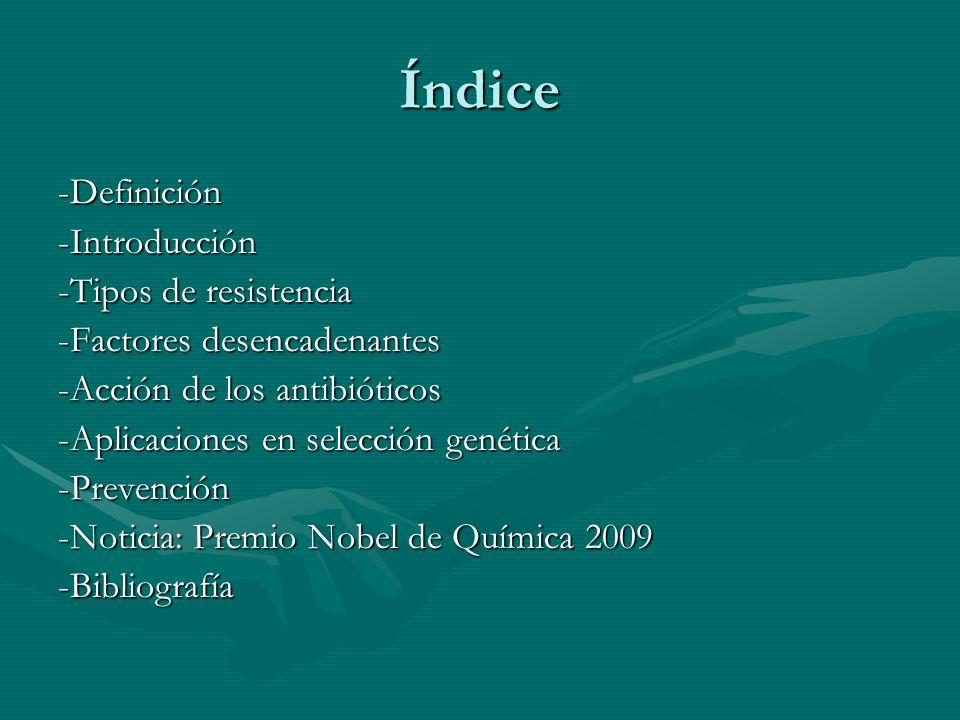 Índice -Definición -Introducción -Tipos de resistencia