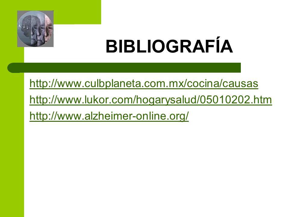 BIBLIOGRAFÍA http://www.culbplaneta.com.mx/cocina/causas