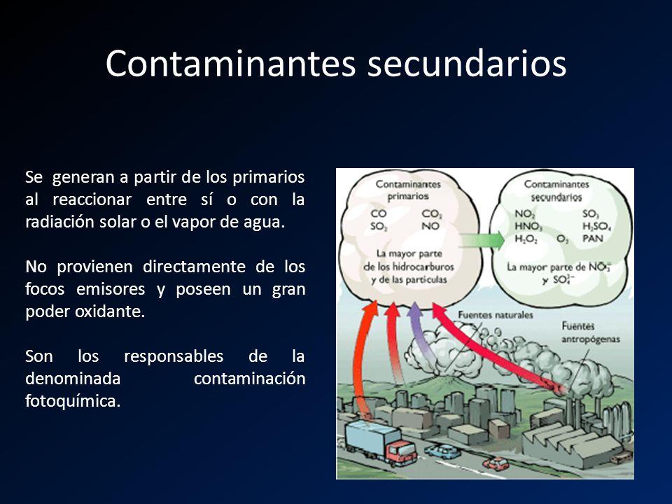 Contaminantes secundarios