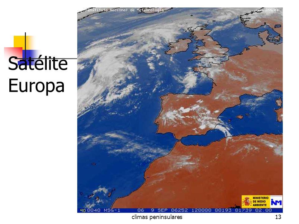 Satélite Europa climas peninsulares