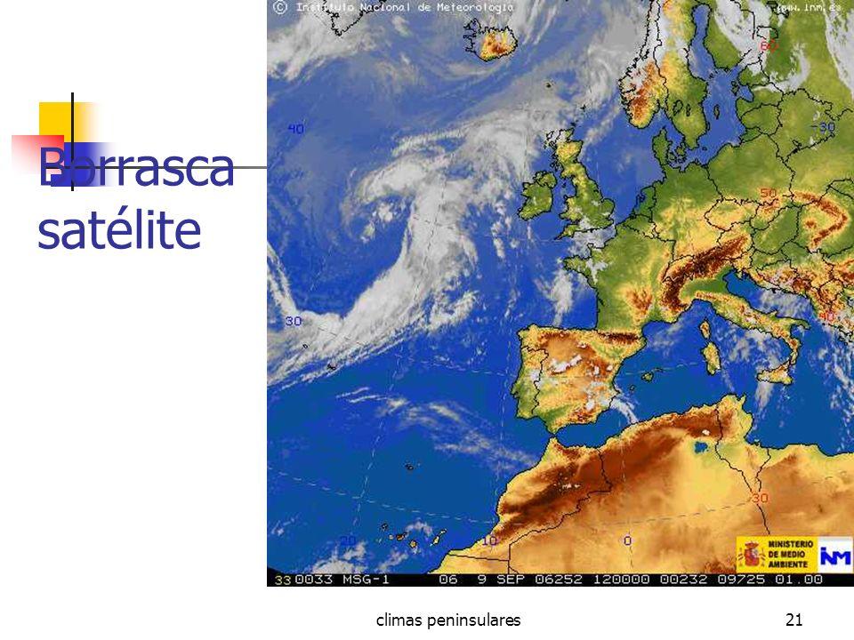Borrasca satélite climas peninsulares