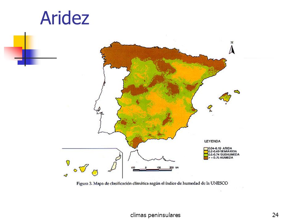 Aridez climas peninsulares