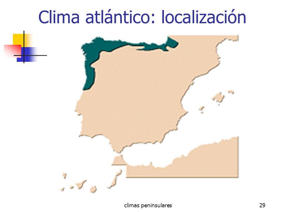 Clima atlántico: localización
