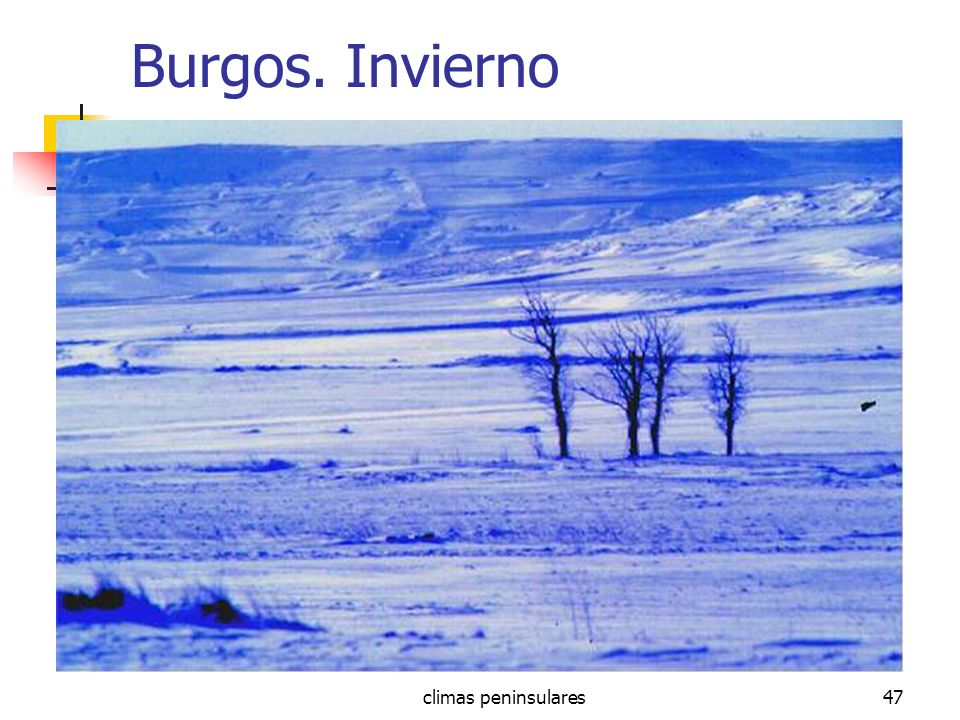 Burgos. Invierno climas peninsulares