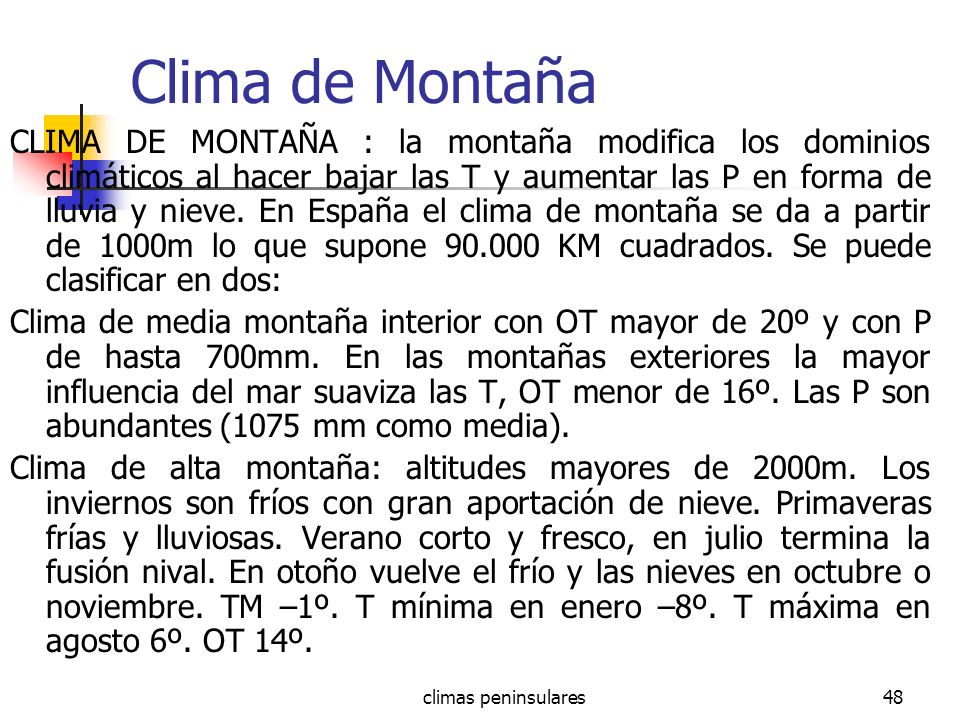 Clima de Montaña
