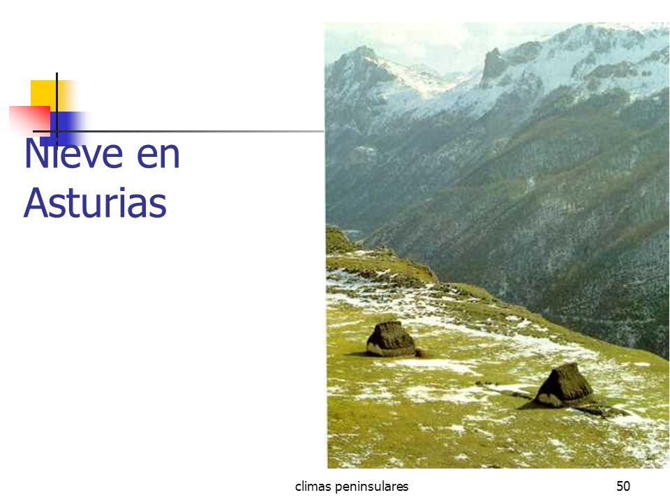 Nieve en Asturias climas peninsulares