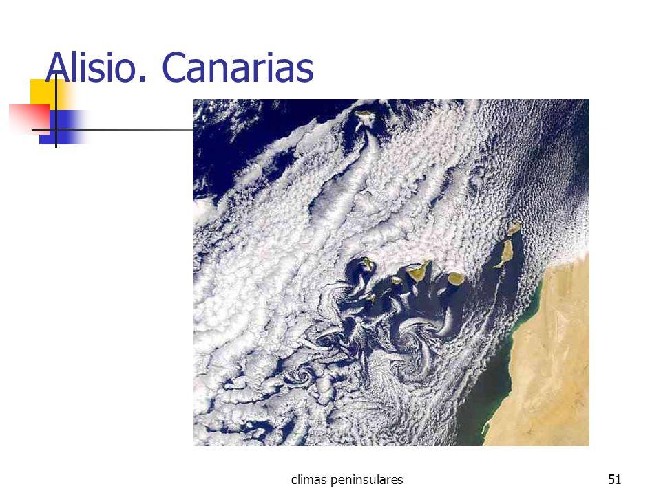 Alisio. Canarias climas peninsulares