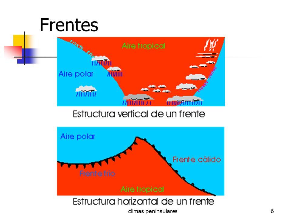 Frentes climas peninsulares
