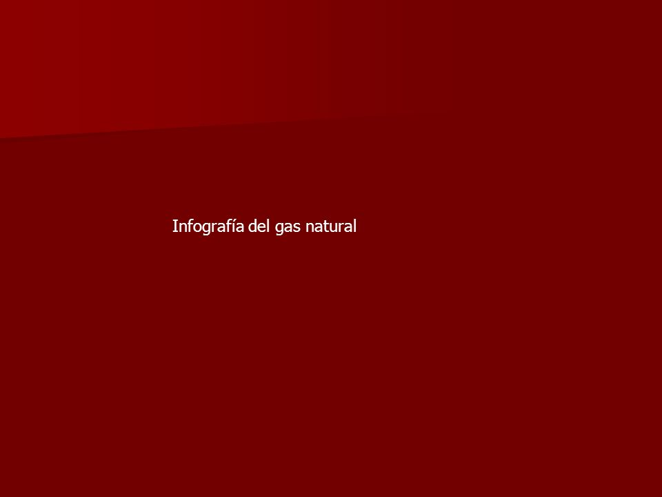 Infografía del gas natural