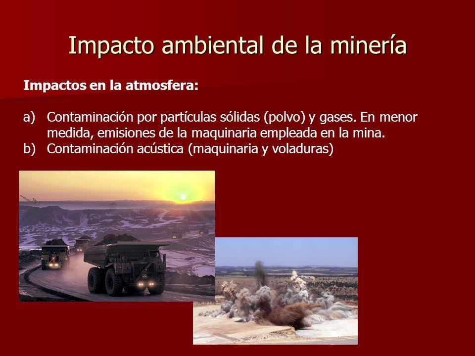 Impacto ambiental de la minería