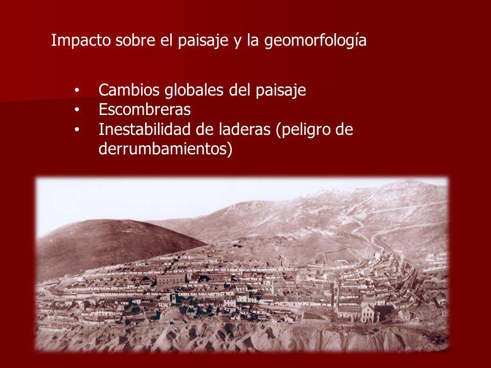 Impacto sobre el paisaje y la geomorfología