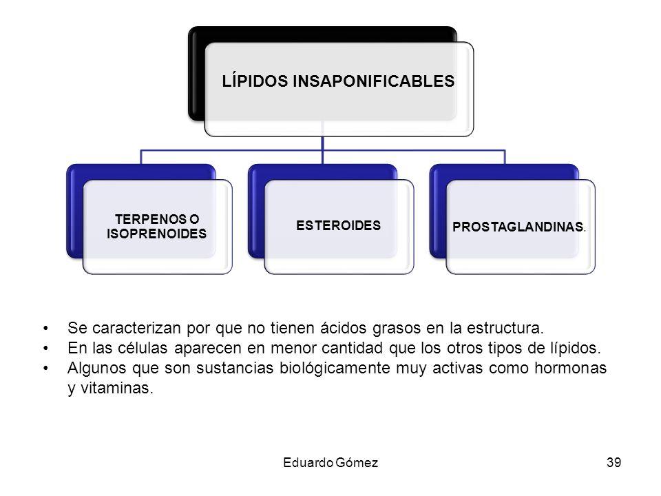 LÍPIDOS INSAPONIFICABLES TERPENOS O ISOPRENOIDES