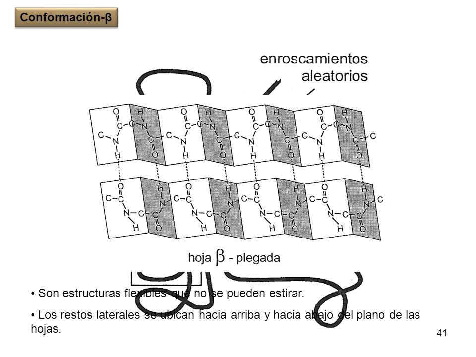 Conformación-βSon estructuras flexibles que no se pueden estirar.