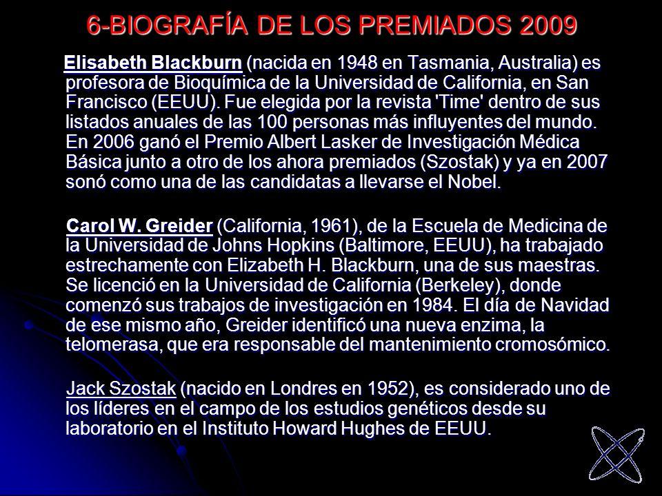6-BIOGRAFÍA DE LOS PREMIADOS 2009