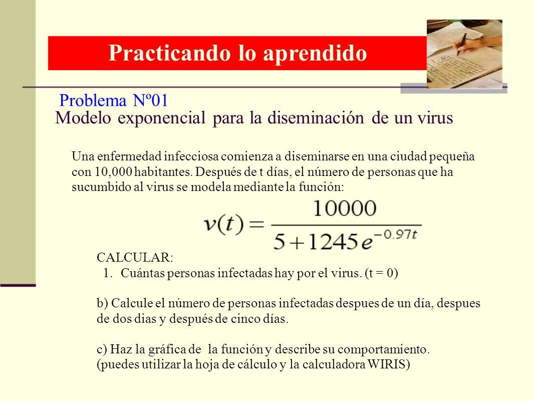Modelo exponencial para la diseminación de un virus