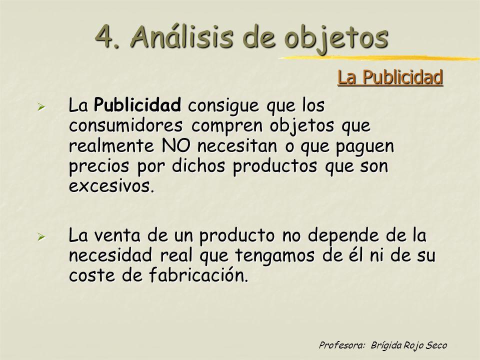 4. Análisis de objetos La Publicidad