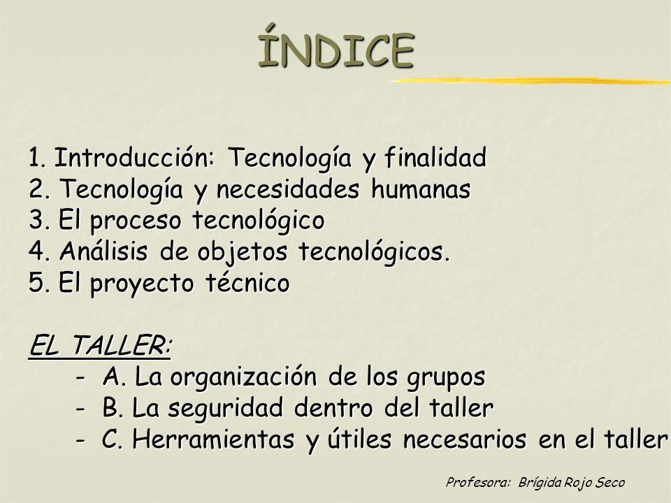 ÍNDICE 1. Introducción: Tecnología y finalidad