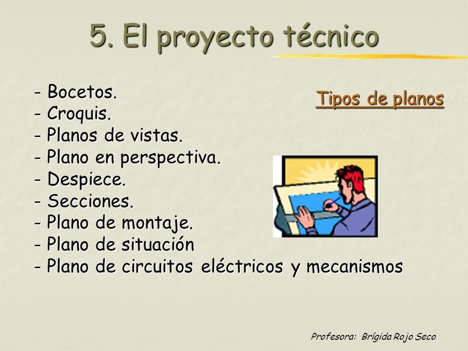5. El proyecto técnico - Bocetos. - Croquis. Tipos de planos