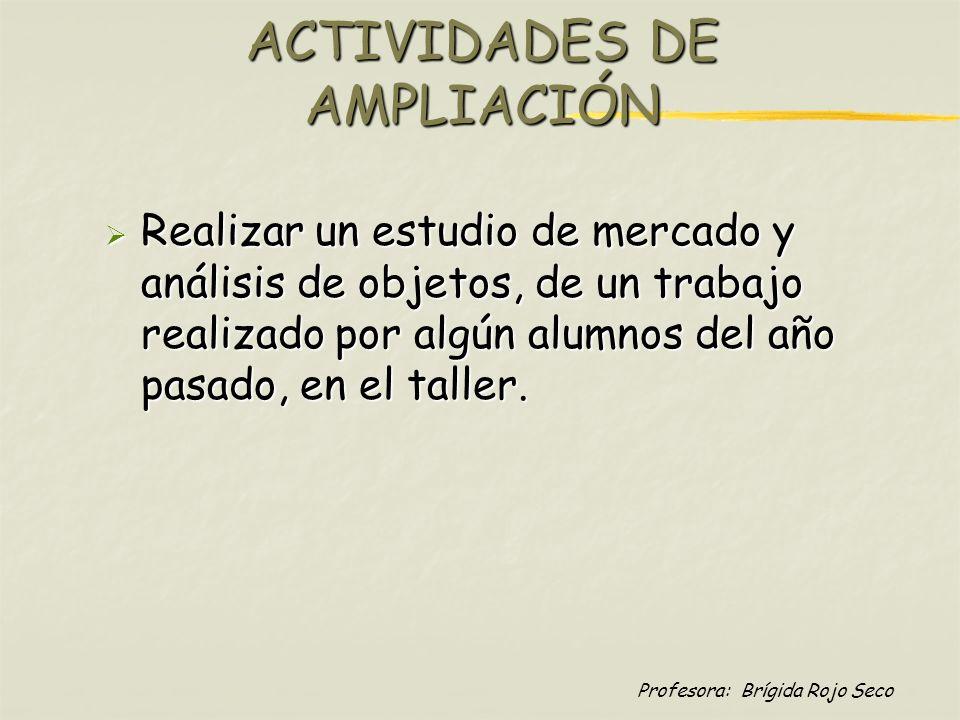 ACTIVIDADES DE AMPLIACIÓN
