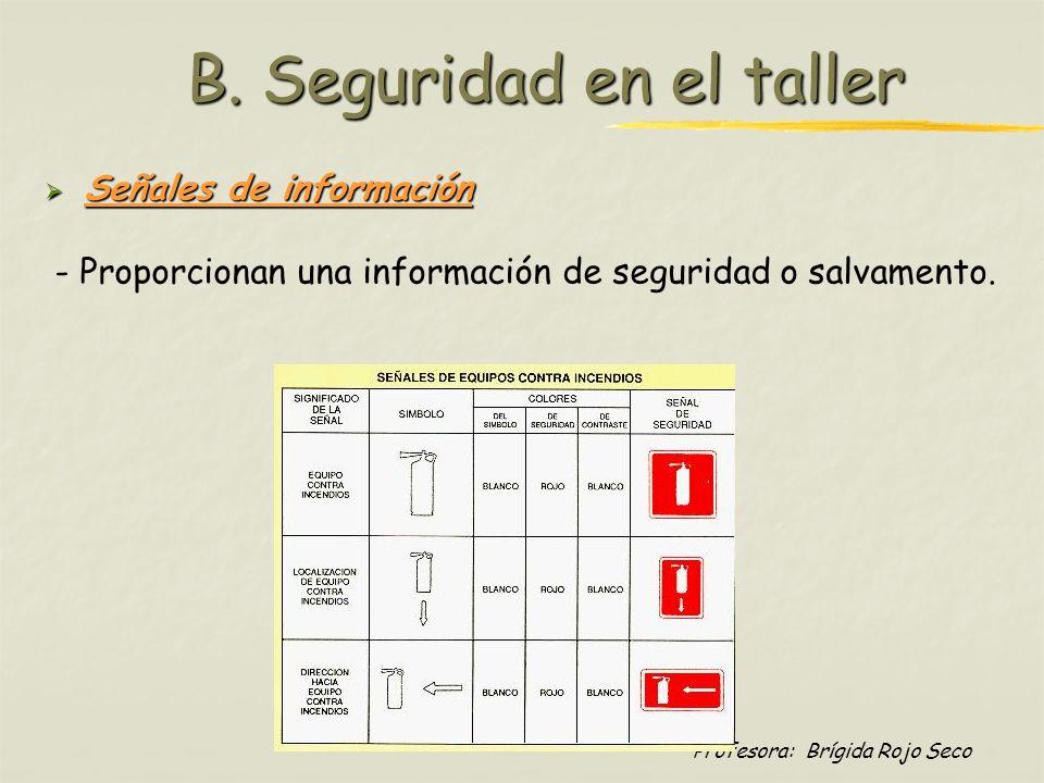 B. Seguridad en el taller