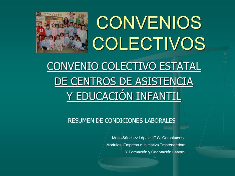 CONVENIOS COLECTIVOS CONVENIO COLECTIVO ESTATAL