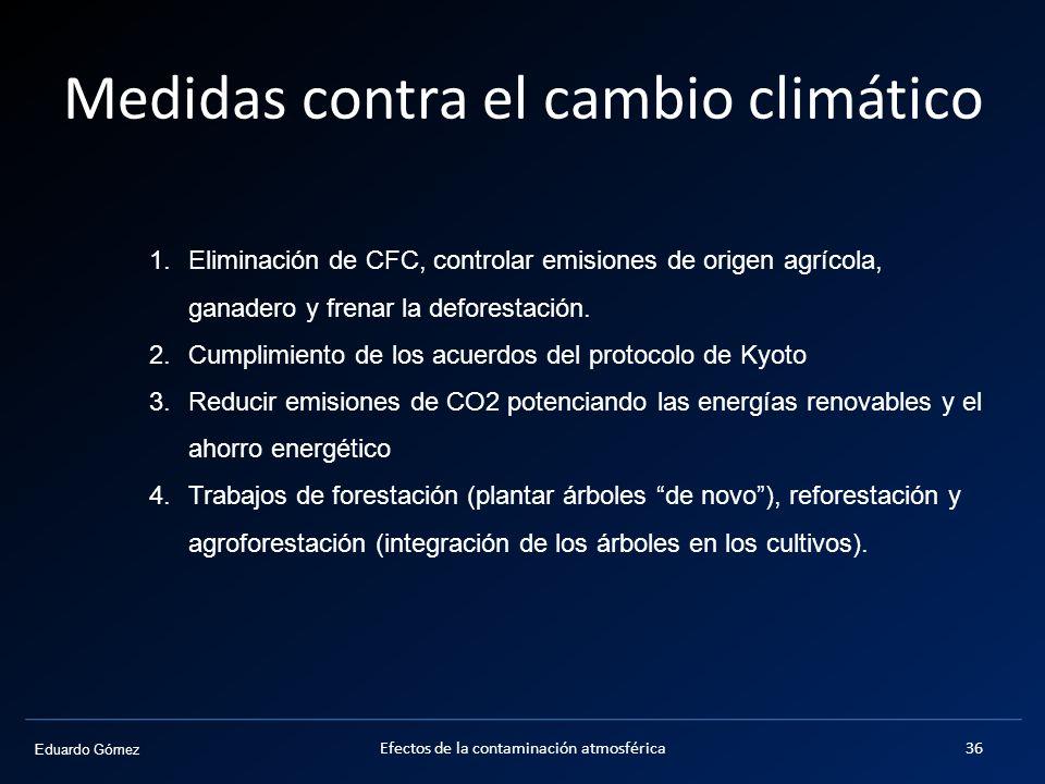 Medidas contra el cambio climático