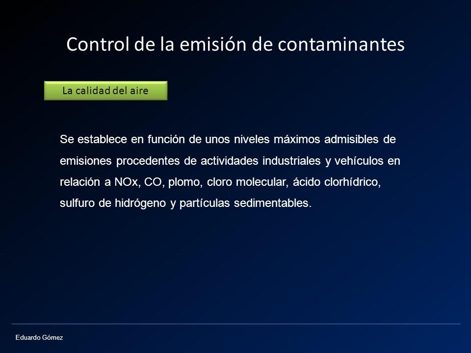 Control de la emisión de contaminantes