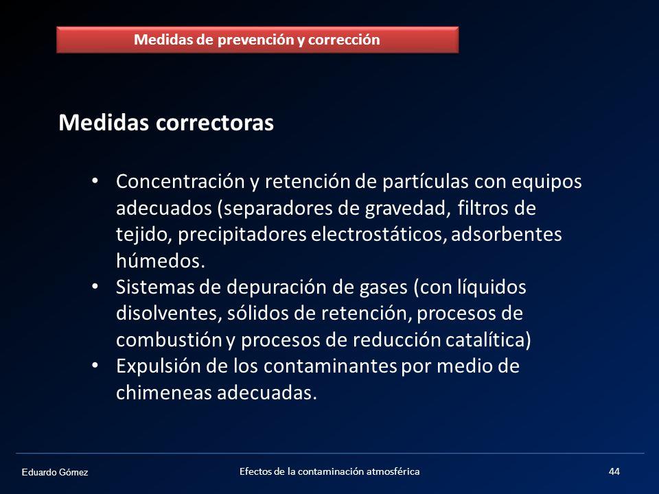 Medidas de prevención y corrección