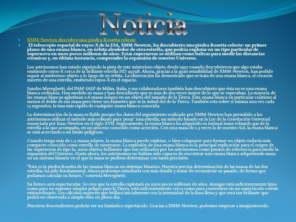 Noticia XMM-Newton descubre una piedra Rosetta celeste