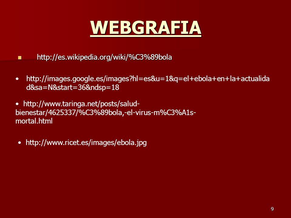 WEBGRAFIA http://es.wikipedia.org/wiki/%C3%89bola
